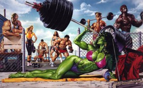 She Hulk Works Out