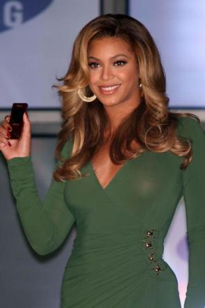 Beyonce See Through Green Dress