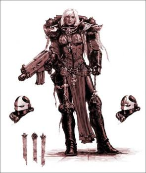 Female Warhammer 40k Soldier