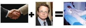 Michael J. Fox Handshake