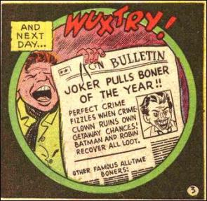 Joker pulls boner