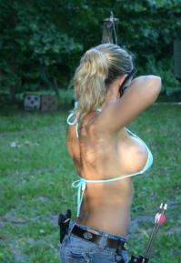 nsfw – Archery never looked so good….