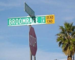 broomrape lane street sign