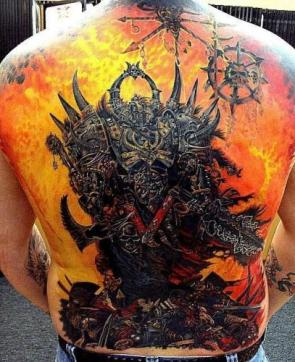 Chaos Marine Tattoo