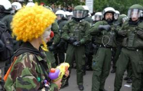 Clown Protestor