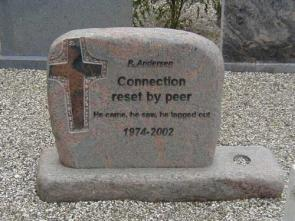 Connection Reset by peer headstone