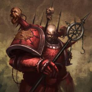 Warhammer 40 – Face Stretch Chaos Marine