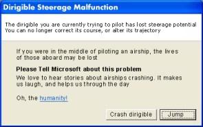 Dirigible Steerage Malfunction