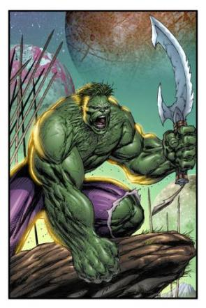 Incredible Hulk Has A Sword