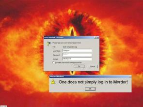 One does not simply log into Mordor!