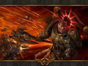 Red Halo Space Marine Wallpaper
