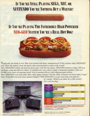 Neo-Geo Hot Dog Advertisement