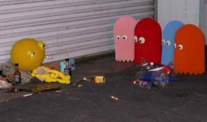 Pac Man in the gutter