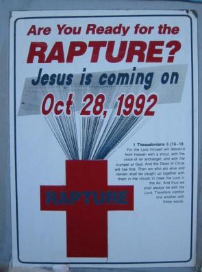 October 28, 1992 – THE RAPTURE!
