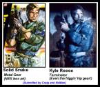 Solid Snake Vs Kyle Reese
