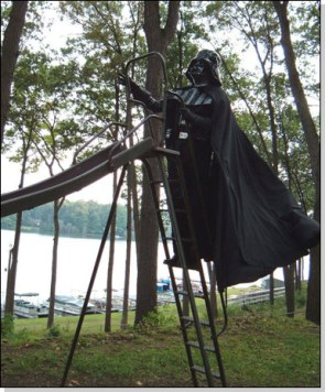 Darth Vader On Slide