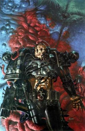 Warhammer 40k – Skeletal Chaos Marine