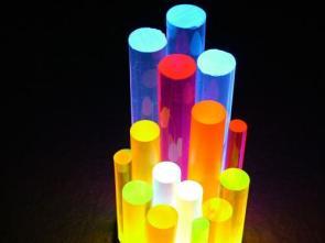 Clear Colored Plastic Sticks