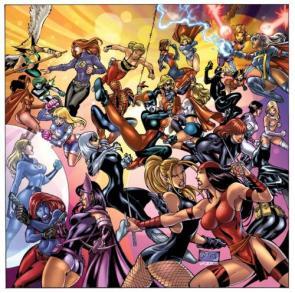 Marvel Girls Vs DC Girls
