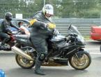 Oversized Motorcyclist