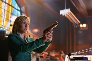 Allison Mack With Pistol