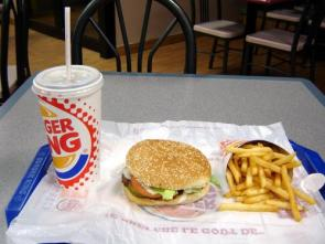 Delicious Burger King Meal