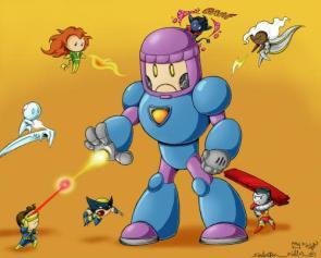 Chibi X-men Vs Sentinel