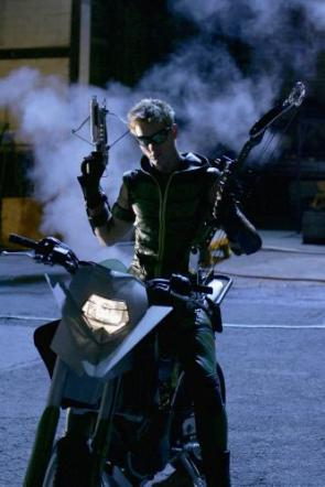 Green Arrow on Bike