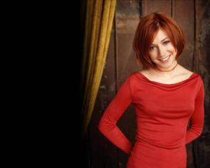 Alyson Hannigan In Red Dress