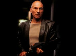 Captain Picard With Phaser Rifle