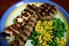 Sausage, Peas and Corn