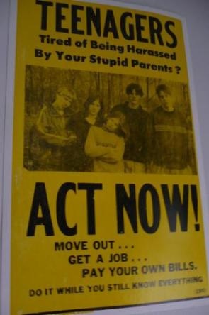 Teenagers – Tired of being harassed by your stupid parents?