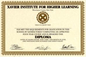 Xavier Institute Diploma