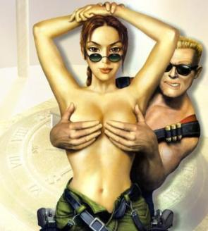 NSFW – Duke Nukem Vs laura Croft