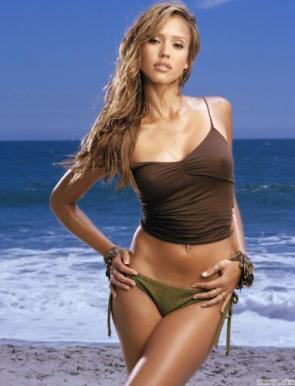 NSFW – Jessica Alba – Brown Top