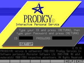 Prodigy Online Log In Screen