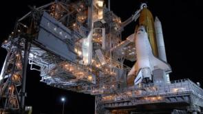 Shuttle Launch Pad At Night