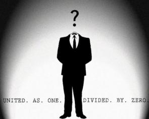Anonymous – United as one, divided by zero