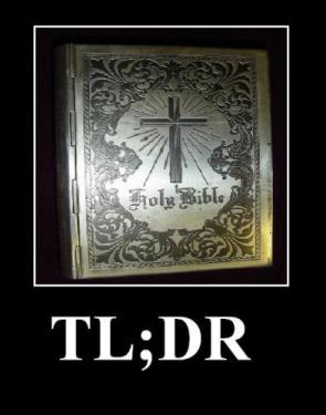 Holy Bible TL;DR