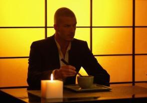 david beckham with chopsticks