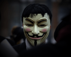 Anonymous In Action – Guy Fawkes Mask FTW