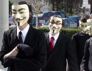 Anonymous In Action – Guy Fawkes Mask With Sunglasses