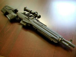 Rifle on Table