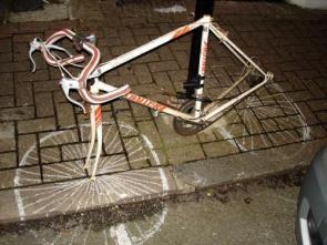 Bike Chalk Wheels