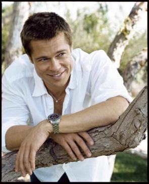Brad Pitt – White Shirt and Tree Branches