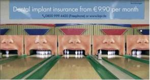 Dental Implant Insurance Advert