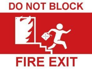 Do Not Block Fire Exit