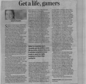 Gamers Should Get A Life