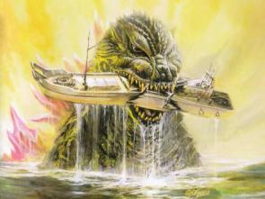 Godzilla Vs Boat