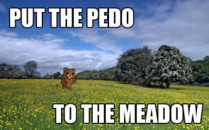 put the pedo to the meadow